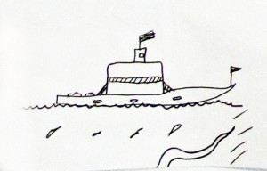 Essex Ferry Doodle, anonymous, July 13, 2013