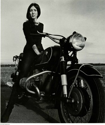 Women of '69 Film - Woman on Motorcycle (Credit: Champlain Valley Film Society)