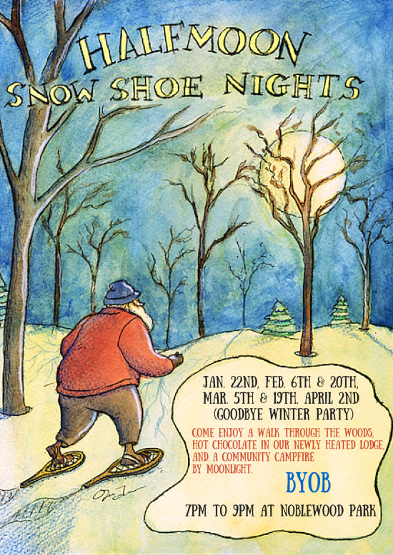 Half Moon Snowshoe Night.